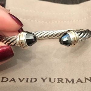 David Yurman Cable Bracelet Hematite 14K Gold 7mm